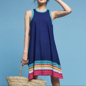 Anthropologie Akemi Kin Crochet Trim Swing Dress